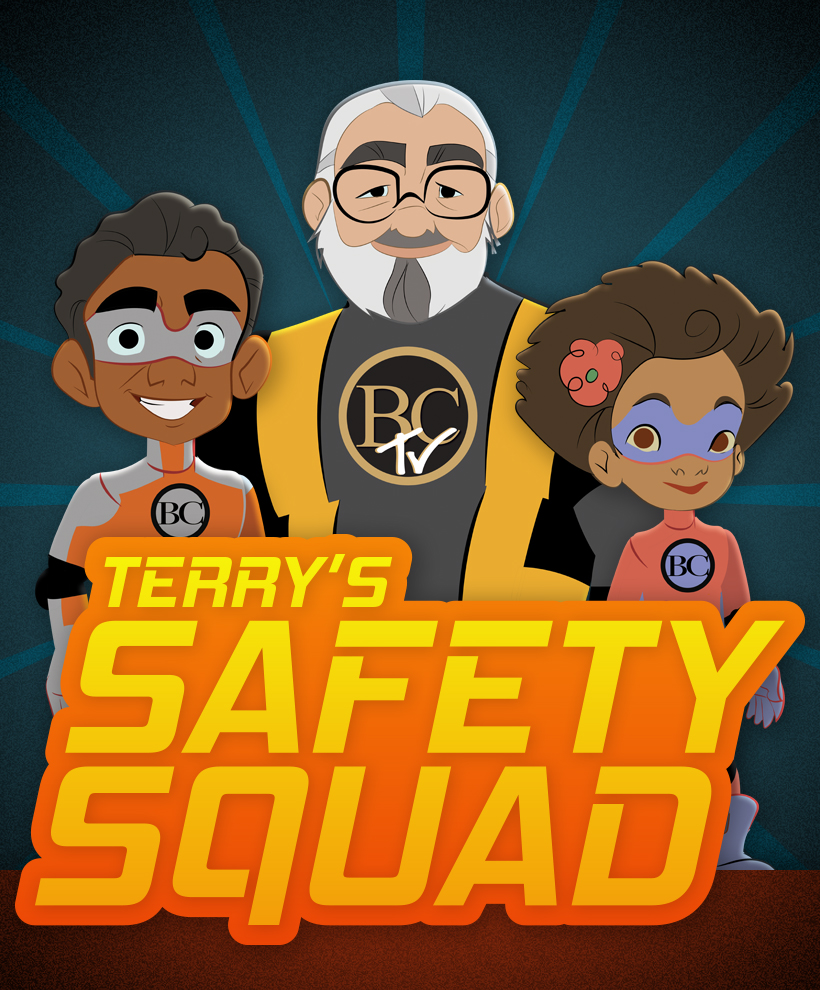 BCTV Terry's Safety Squad illustration