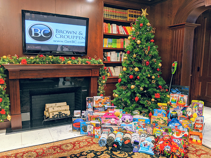 Brown & Crouppen Team EJ Foundation toy drive