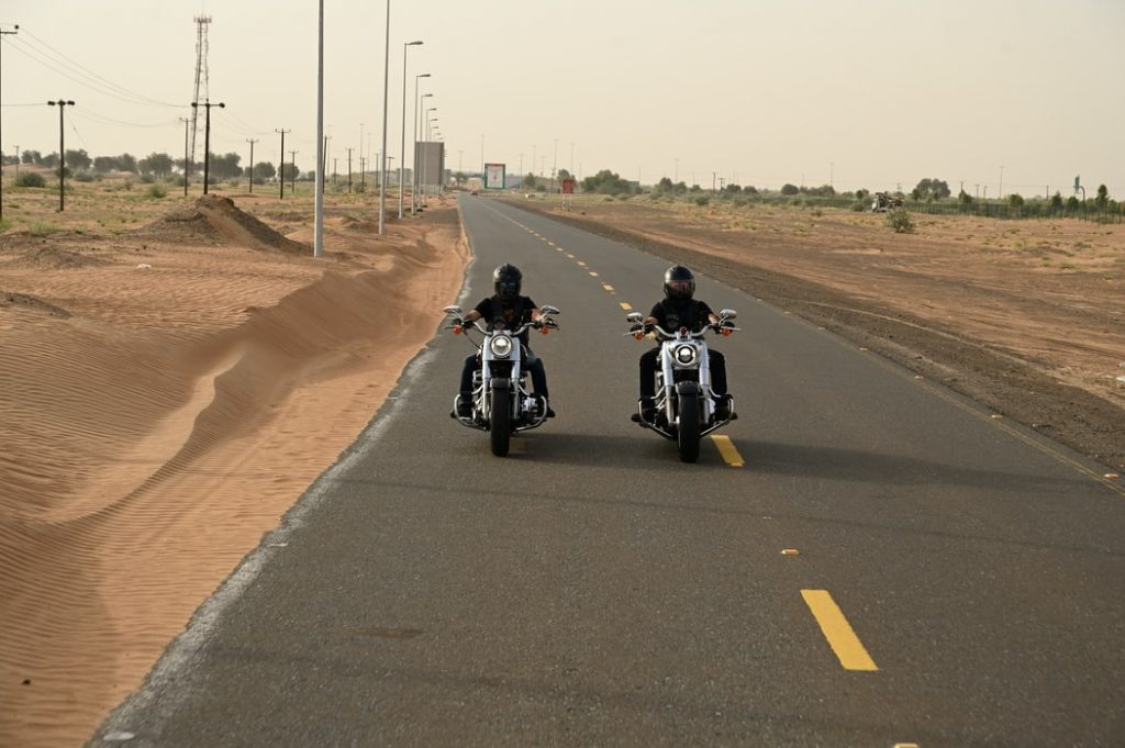 motorcyclists on open road